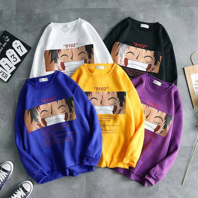 Cool One Piece Hoodie Cartoon Japan Hoodie Males Casual Harajuku Sweatshirt Streetwear Autumn Winter Hip Hop Hoodie Tops Males