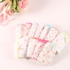 Image 4 - 20pcs כותנה ילדי תחתוני תחתוני בנות תינוק מכנסיים חמוד בנות תחתוני מעורב צבע Cueca Infantil