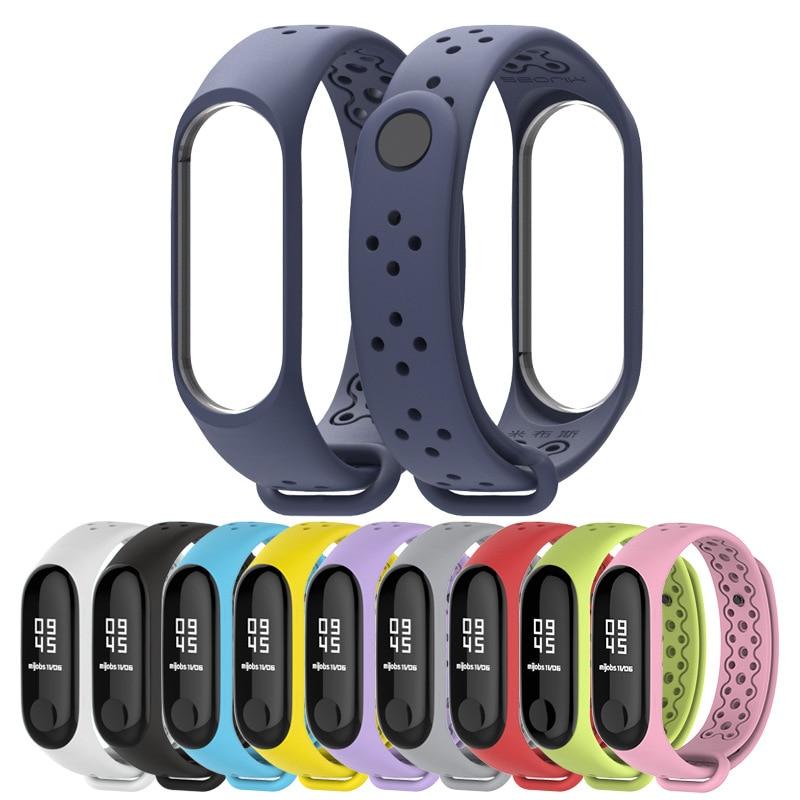 For Mi Band 4 Strap Wrist Strap For Xiaomi Mi Band 4 3 Sport Silicone Bracelet For Xiaomi Mi Band 3 Smart Watch Bracelet