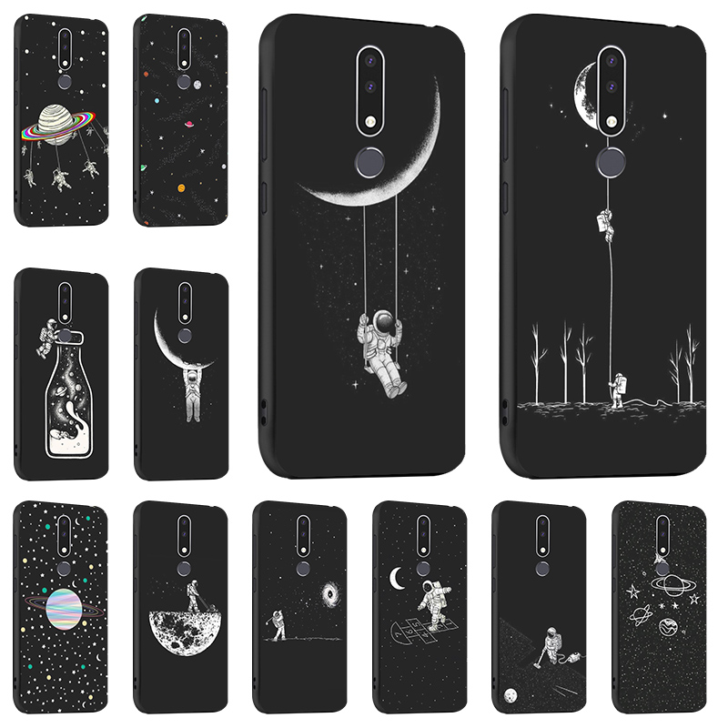 Silicon TPU <font><b>Case</b></font> For <font><b>Nokia</b></font> 5.1 <font><b>Cases</b></font> Black Painted Anti-knock <font><b>Cover</b></font> For <font><b>Nokia</b></font> <font><b>6.1</b></font> <font><b>Plus</b></font> 7 C1 3 9 <font><b>6.1</b></font> <font><b>Covers</b></font> Back Coque Funda image