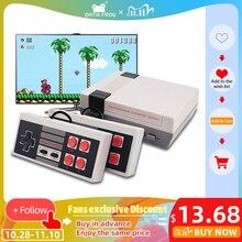 데이터 개구리 TV 비디오 게임 콘솔 내장 620 게임 8 비트 레트로 게임 콘솔 휴대용 게임 플레이어 최고의 선물 무료 배송