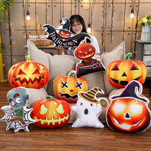 2019 New Halloween Pumpkin Bat Zombie Cushion Printed Throw Pillow Insert Cusions for Sofa Gift Home Hotel Decoration