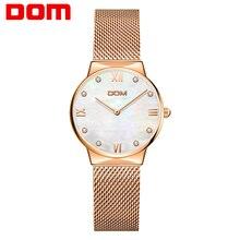 цена на Women Watches DOM Brand Luxury Fashion Quartz Ladies Watch Clock Rose Gold Dress Casual girl relogio feminino Watches women