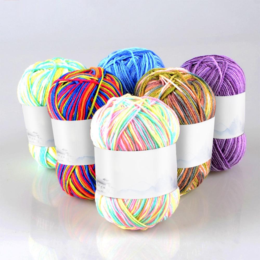 1P/50g DIY Knitting Crochet Sweaters Milk Soft Baby Cotton Wool Yarn Hand Knitted Yarn DIY Craft Knit Sweater Scarf Hat