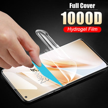 soft full cover for oneplus 8 Z Nord hydrogel film Not Glass oneplus 7 7t pro protective film phone screen protector smartphone