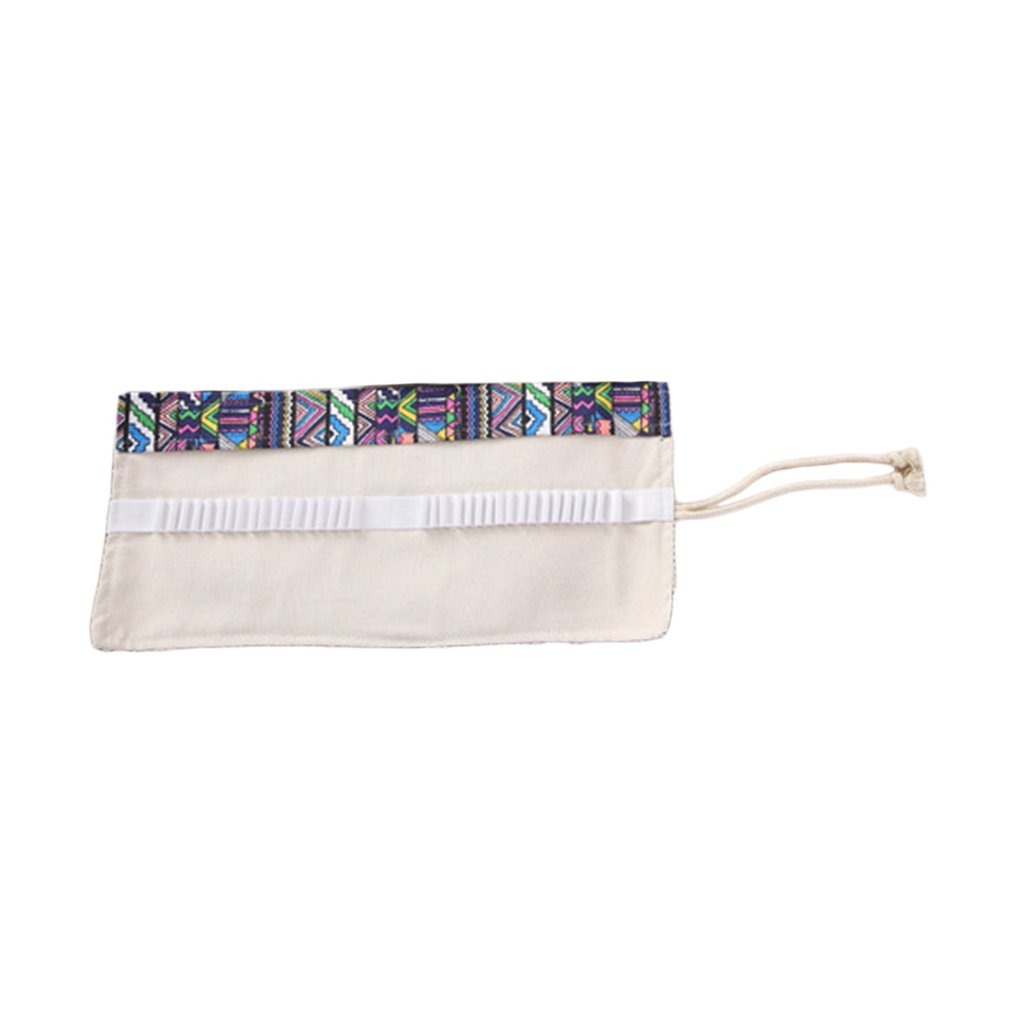 School Material National Wind Style /Cosmic Milky Way  36 /48/72 Holes Pencil Bag Foldable Design Pencil Holder Pouch Stationery