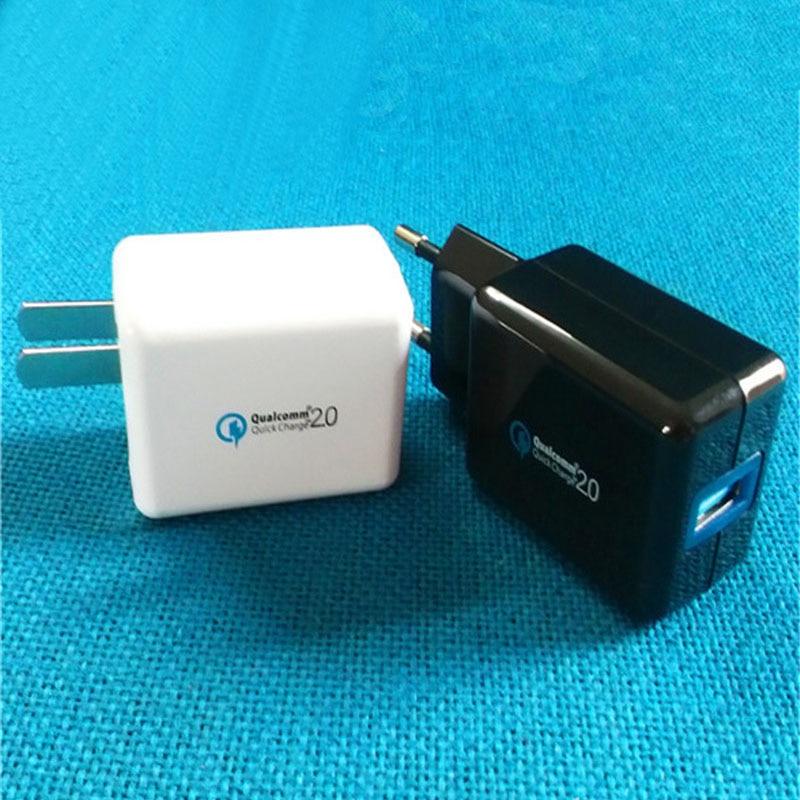Rychlé nabíjení 2.0 18 W USB Turbo Nástěnná nabíječka QC 2.0 Rychlá nabíječka pro Samsung Poznámka 10 9 8 S9 S7 S6 Edge + HTC 10 Xiaomi Mi9 Mi8 MIX