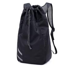 Men Basketball Backpack School Bags For Balls Soccer Drawstring Mash Fitness Bucket Bag Outdoor Sports bag