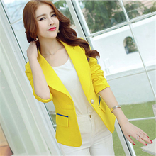 Tops Suit Blazer Femme Jackets 2020 New Slim Spring small