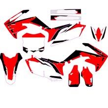 Gráficos completos personalidade adesivos para honda crf250 crf 250 450 2010   2013 crf450 2009 2012 diy personalizável número nome decalque