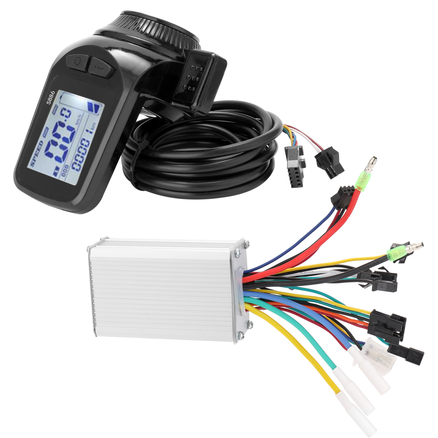 36V-<font><b>60V</b></font> 350W <font><b>Motor</b></font> Brushless Controller LCD Display Panel Thumb Throttle Electric Bicycles Scooter Brushless Controller Kit image