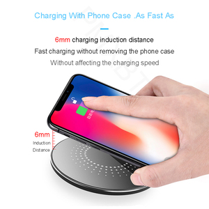 Image 5 - 15W Wireless Induction Charger For iPhone 8 Plus 11Pro Samsung S10 S9 Huawei P30 Pro Qi Fast Wireless Charging Pad Phone Charger