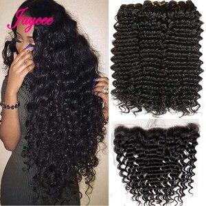 Перуанские волнистые пряди с кружевной фронтальной застежкой с пряди, перуанские волосы, пряди, человеческие волосы, 3 пряди