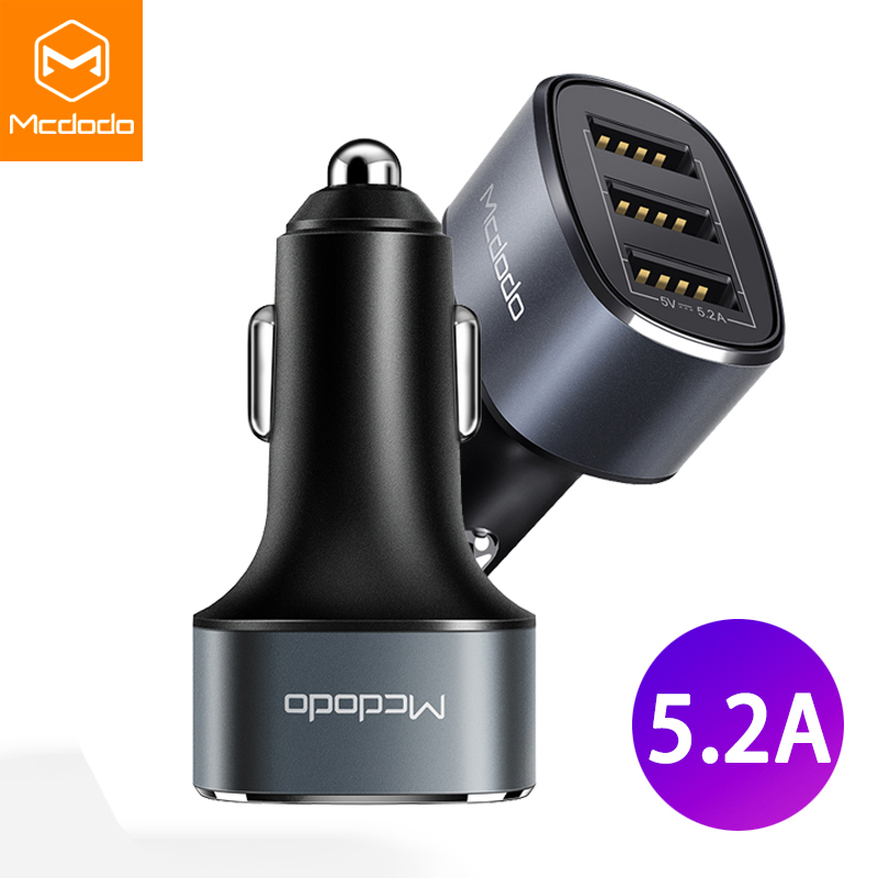MCDODO Car-Charger Mobile-Phone-Adapter Usb-Plug Charging-In-Car Xiaomi IPhone Xs Fast