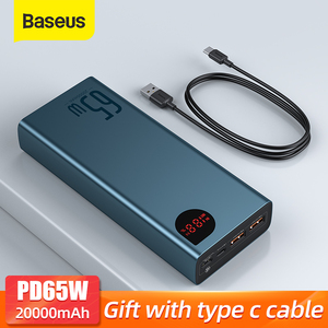 Image 1 - Baseus PD 65W Power Bank 20000mAh QC4.0 Portable Charging External Battery Charger PowerBank For iPhone Xiaomi Macbook PoverBank