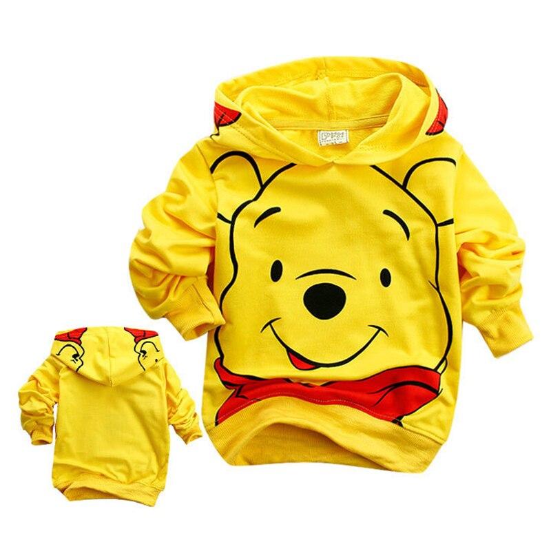 Edward Bear Vigny Winnie Boys Girls Casual Sweatshirt Kids Hoodies Long Sleeve Sweatshirt Children Clothes