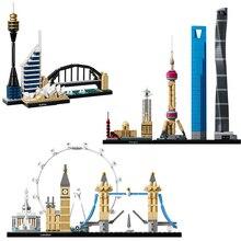 Legoing City Creator House Shanghai Sydney Street View строительные блоки детские игрушки Набор Классическая городская модель