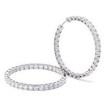 3 millimetri Round Brilliant H e UN Taglio EF Colore Bianco Moissanite Solido 14K Oro Bianco Orecchini A Cerchio per donne 6CTW 60pcs