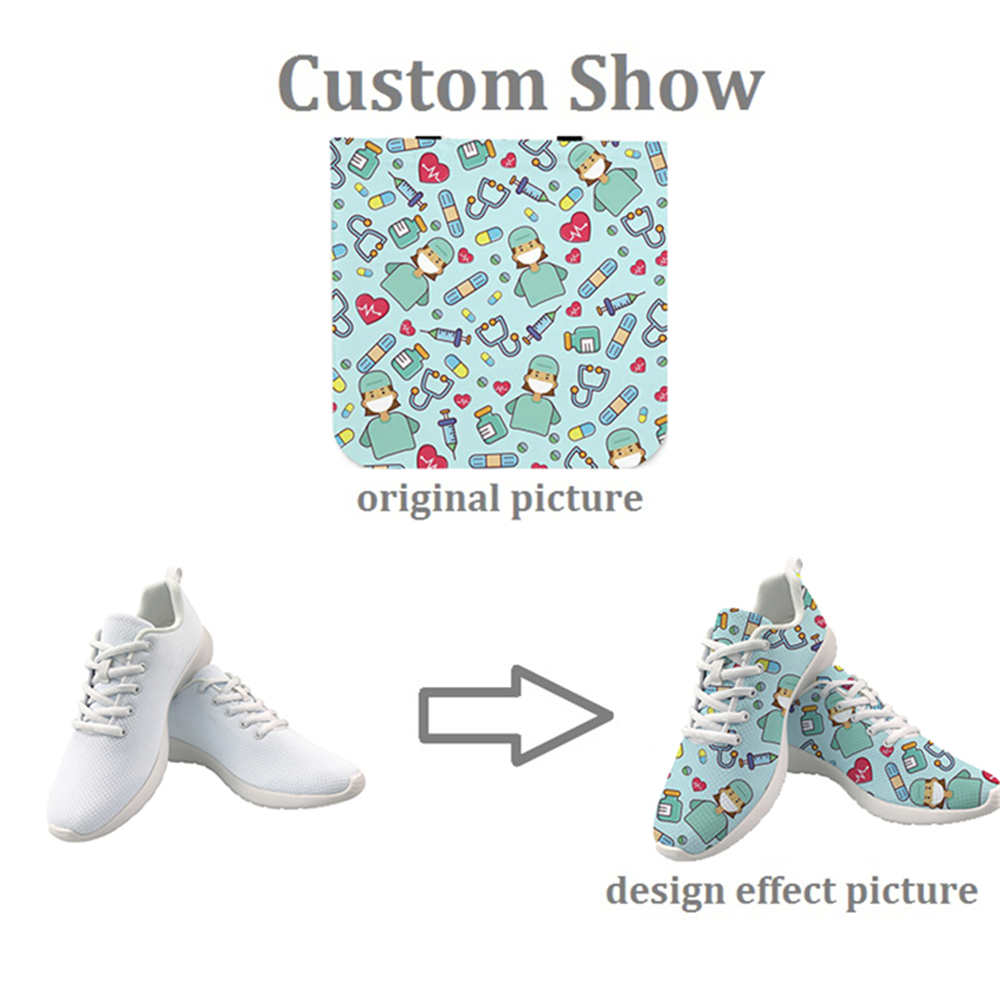 Buy INSTANTARTS Sneakers Women Lady Comfortable Lace-up Mesh Flats Shoes Spring Casual Platform Shoes for Teenage
