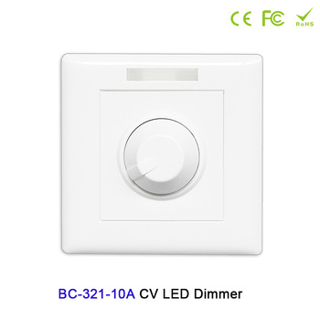 цена на BC-321-10A Constant voltage PWM knob style dimmer DC12V-24V 10A manual switch controller for LED strip light