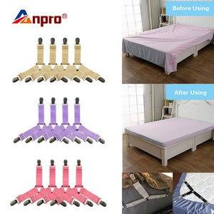 Image 1 - 4Pcs Bettlaken Clips Blatt Bett Gripper Einstellbare Elastische Befestigungs Strap Inhaber Bettwäsche Clips für Bettwäsche Matratze Verschluss