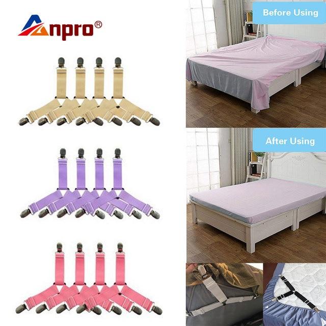 4Pcs Bettlaken Clips Blatt Bett Gripper Einstellbare Elastische Befestigungs Strap Inhaber Bettwäsche Clips für Bettwäsche Matratze Verschluss