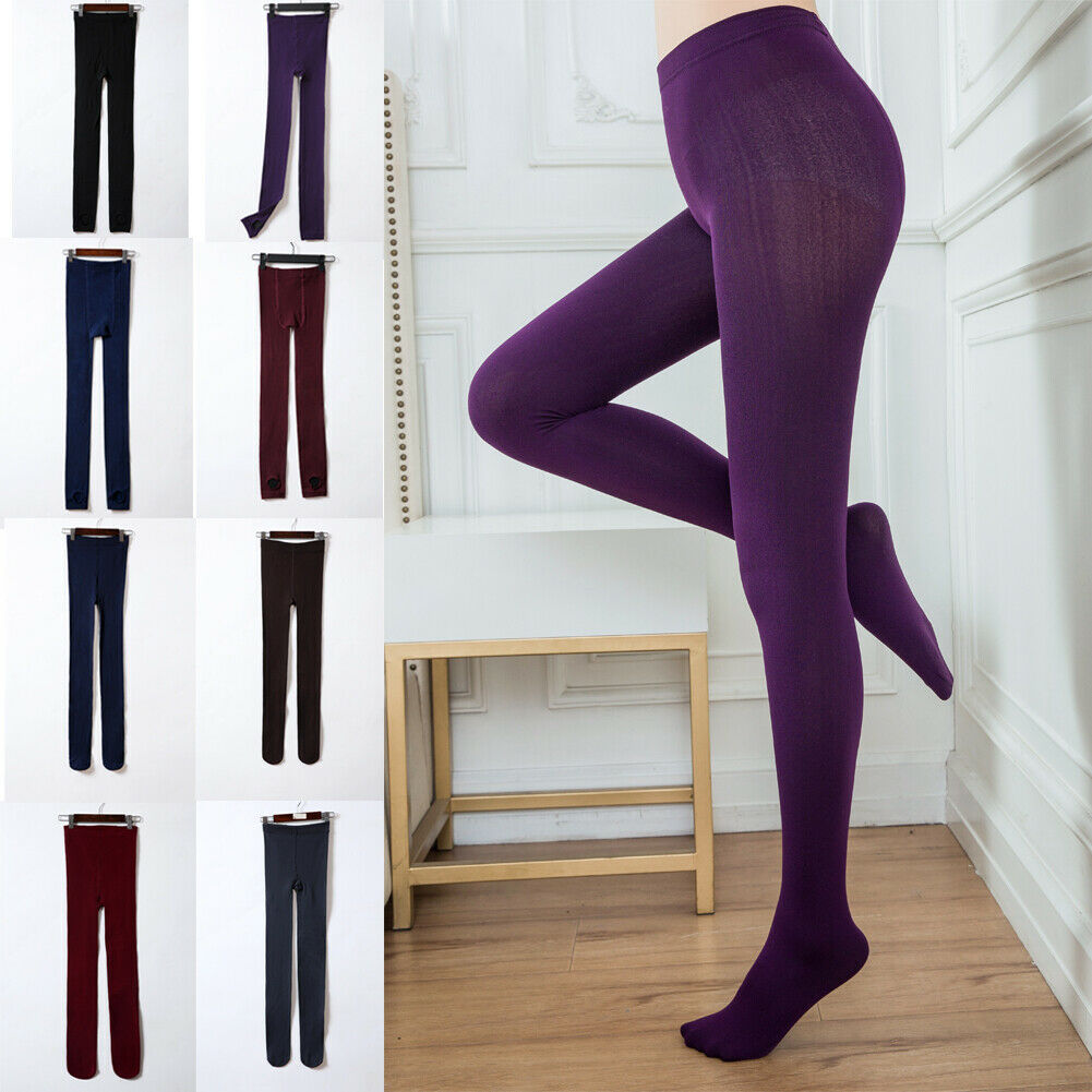 Hirigin Women Winter Thermal Thick Warm Fleece Lined Stretch Skinny Slim Leggings