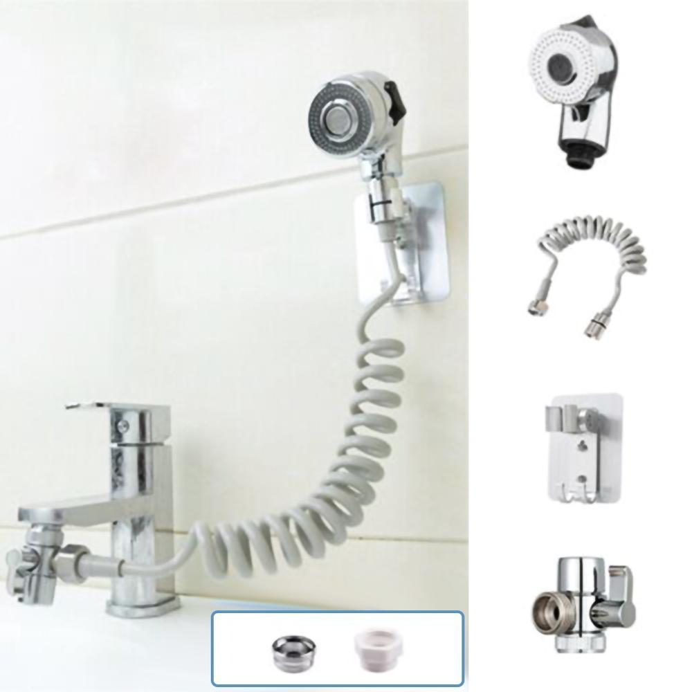 Длинный гибкий шланг для ванной комнаты, кран для внешнего душа, Ручной Телескопический маленький набор соплов, комплект с насадкой для шам...