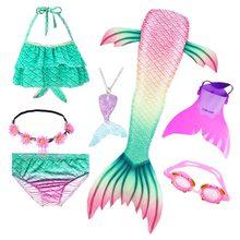 Детский купальник «Русалочка», купальный костюм с хвостом и моноластами или без них