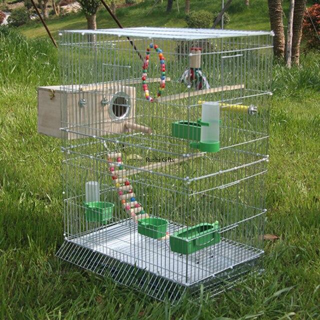Large Bird Cages for Parrots Parakeet Octopus Metal Birdhouse Heightened Breeding Cage Bird Kages Bird Nest Pigeon Supplies