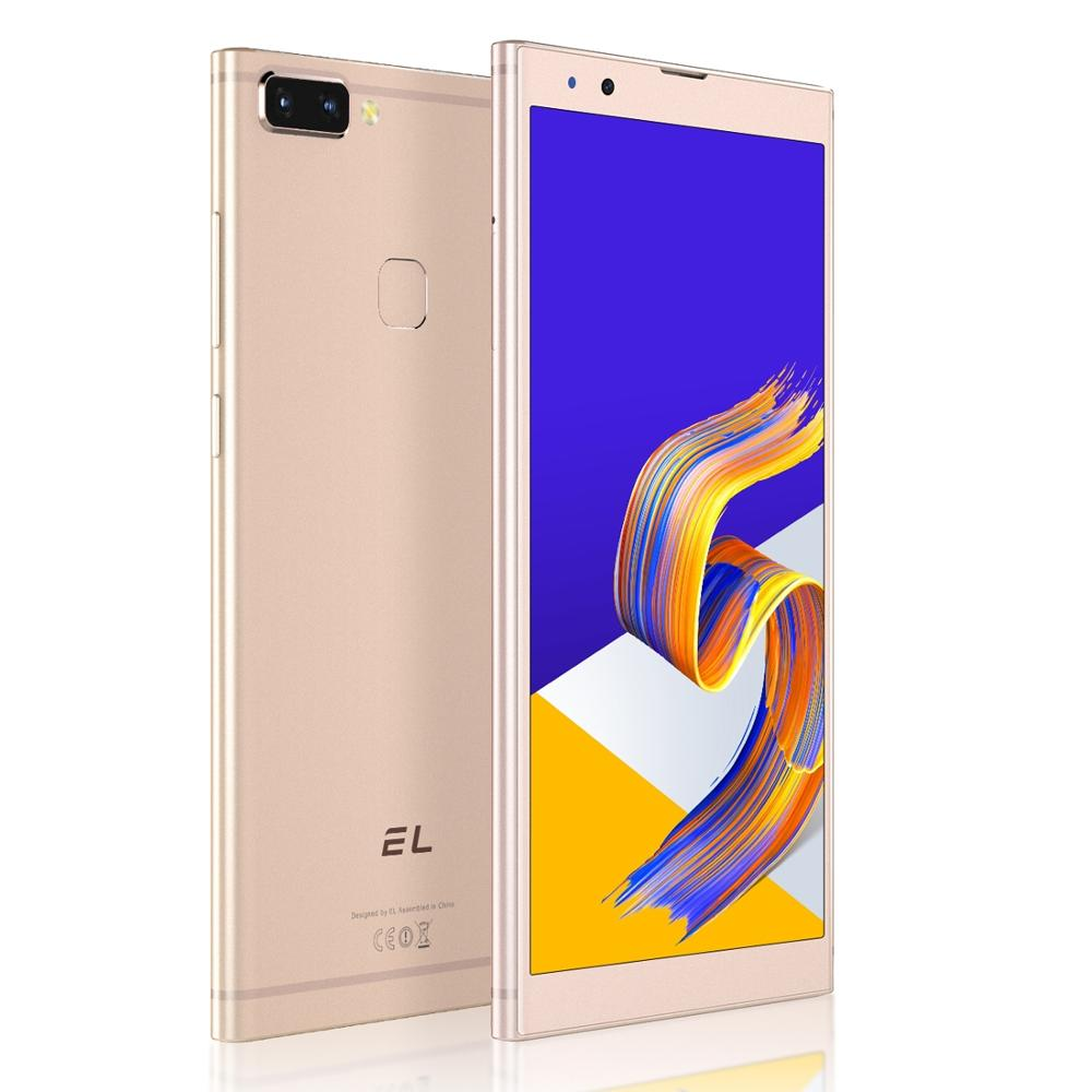 EL K20 3GB 32GB Dual Face Unlock Fingerprint ID Cell Phone 5.7 inch Android 8.1 MTK6750 Octa Core up to 1.5GHz 4G Dual SIM E&L S
