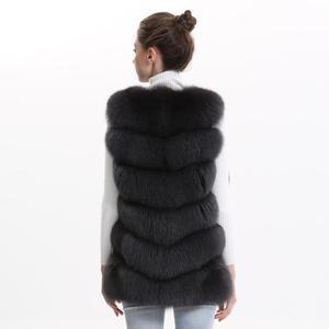 Image 3 - Autumn Winter Women Real Fox Fur Vest Female Genuine Fox Fur Coat Leather Jacket Warm Lady Gilet Natural Fox Fur Waistcoat