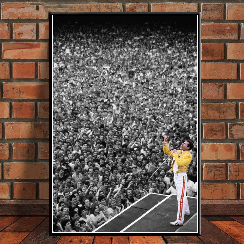 asfrata265 Freddie Mercury Rock Musician Bohemian Rhapsody Posters and Canvas Prints Painting Wall Art Vintage Picture Home Decor K5180 50X70Cm