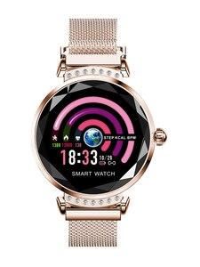 Relógio inteligente feminino à prova dwaterproof água lembrete fisiológico rastreador de fitness bluetooth smartwatch para android ios