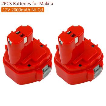 2pack Replacement Battery For Makita 12V 2000mAh PA12 Ni-CD Rechargeable Battery Power Tools Bateria 1220 1222 1235 1233S 6271D