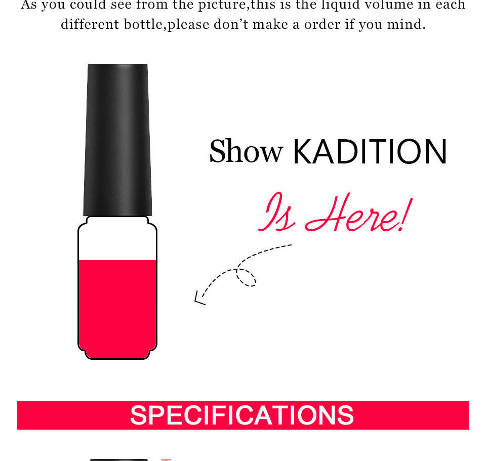 Kadition Chameleon Nail Gel Polish 7 Ml Suhu Warna Glitter Mengubah Gellack Rendam Off UV LED Termal Gel Pernis Kuku seni