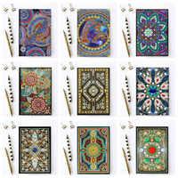 5D DIY Diamant Malerei Notebook Mandala Schmetterling Muster Diamant Stickerei Student Tagebuch Buch Kinder Geburtstag Geschenk