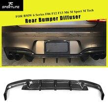 Углеродное волокно задний бампер диффузор спойлер для BMW F06 F12 F13 M6 М Спорт 2012- седан купе 640i 650i