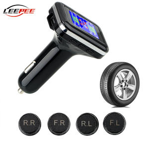 Car-Accessories Cigarette-Lighter Pressure-Monitor-System External-Sensors LEEPEE TPMS