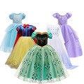 Платье принцессы для девочек, платье принцессы Эльзы, принцессы Софии, Белоснежки костюм Золушки платье принцессы для костюмированной вече...