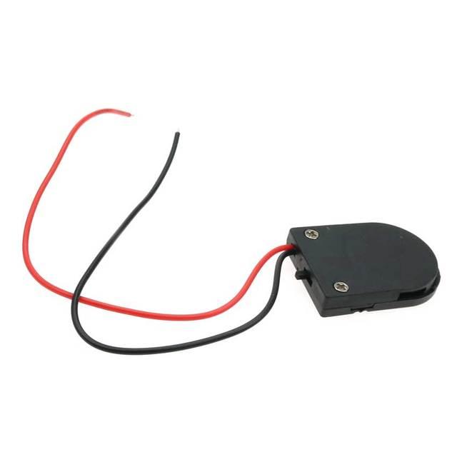 3 pièces/ensemble CR2032 bouton pièce de monnaie batterie support de prise housse avec interrupteur marche/arrêt noir/blanc/clair 3V batterie boîte de rangement