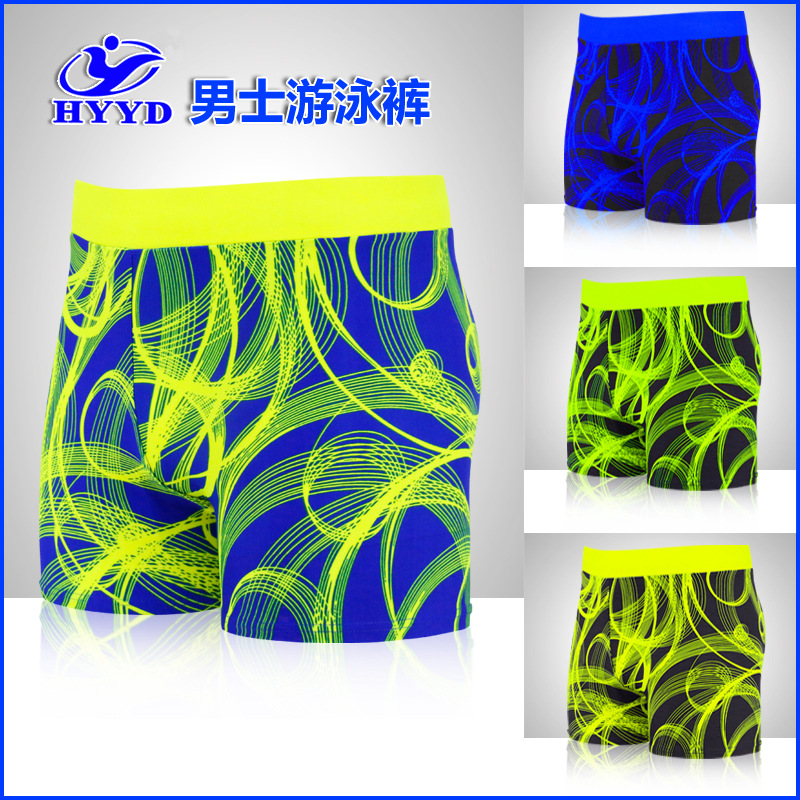 Network Hot Selling Men Boxer Swimming Trunks Swimming Pool Adult Swimming Trunks Shorts MEN'S Swimsuit Swimming Trunks