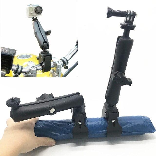 Жесткое крепление на руль и длинная двойная розетка для камеры GoPro Hero