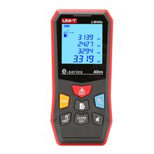 UNI-T LM40e  Laser Distance Meter Handheld Mini Laser Rangefinder Digital LCD Tape Range Finder Diastimeter new uni t ut390b laser range finder distance meter area volume lcd meter 0 05m 45m