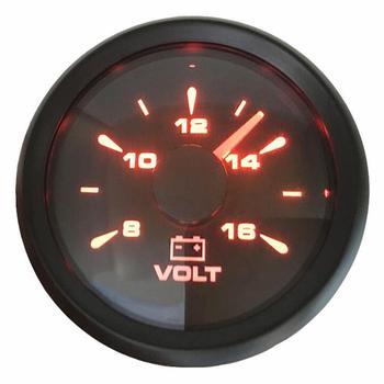 1 шт Новый Тип Напряжение датчики модификации 52 мм 8-16vdc морской вольтметры Авто вольтметры с 8 видов Подсветка Цвет