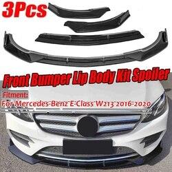 W213 wygląd włókna węglowego splitter przedniego zderzaka samochodu Spoiler pokrywa dyfuzora tapicerka dla mercedesa dla Benz e-class W213 2016-2020