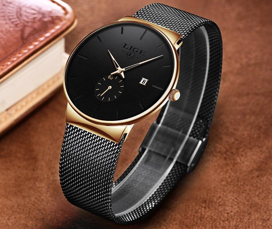 Hc190c47819af4061bd6469e0f2b1fd23d New LIGE Mens Watches Casual Fashion Gift Men Watch Business Waterproof Quartz Watch Full Steel Clock Relogio Masculino+Box