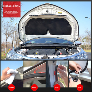 Image 3 - 1080p z d b タイプ 4 メートルゴムシール車のゴム製ドアシールウェザーストリップドアゴムシールストリップ車遮音シール