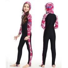Дети Рашгард UPF 50+ УФ Защита от солнца для девочек и мальчиков лайкра всего тела Дайвинг костюм полный гидрокостюм и дышащие спортивные дайвинг скины