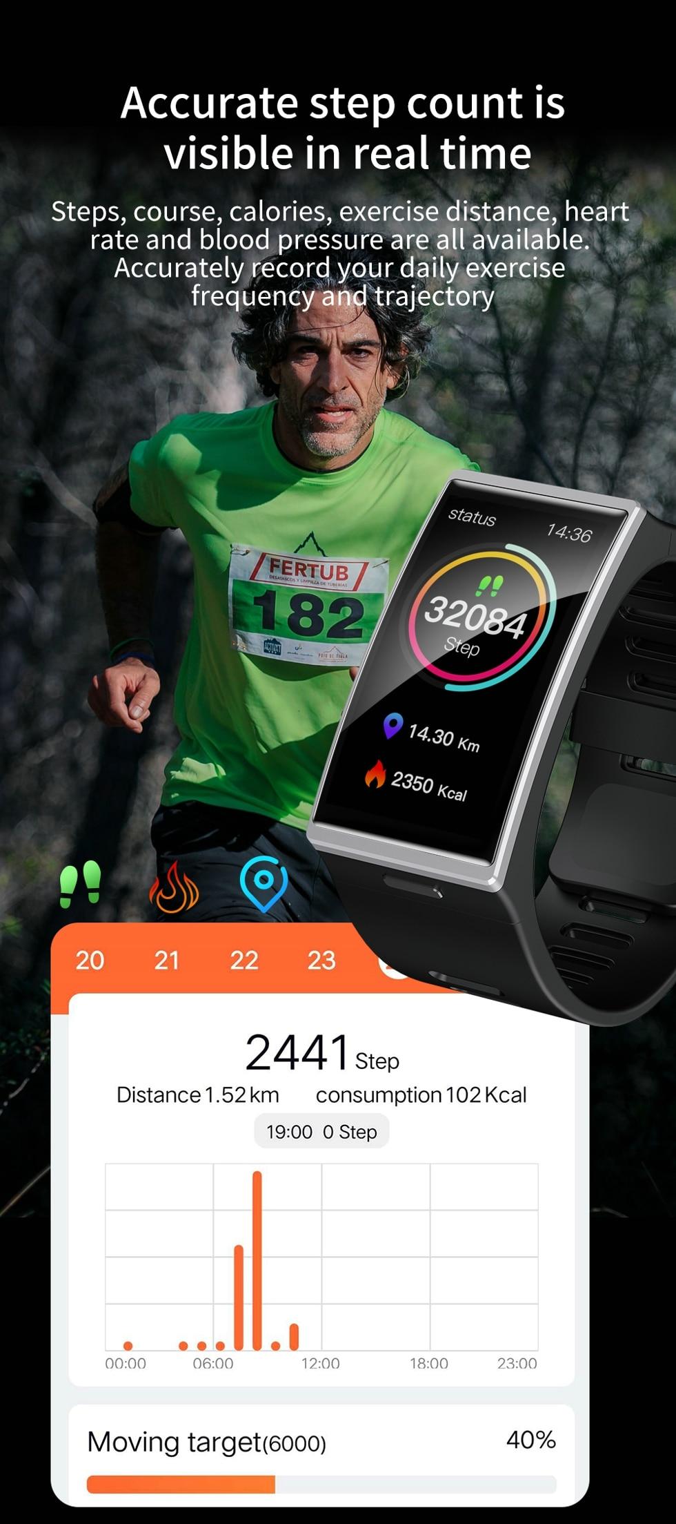 Hc190ddfd644c4eeba24b7491e941e685D Smartwatch 2020 1.9 Inch 170*320 Screen LEMFO DM12 Smart Watch Men IP68 Waterproof Sport Heart Rate Blood Pressure Android IOS